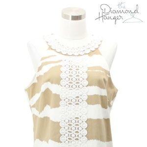 A66 MICHAEL KORS Designer Dress Size 10 Medium Bei